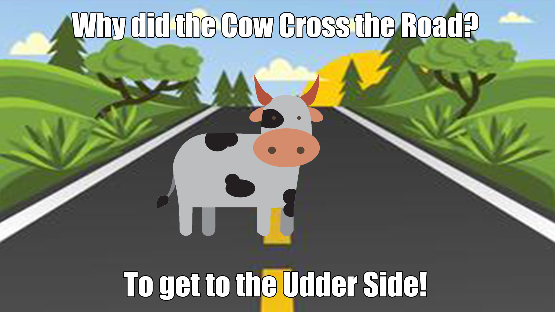 Why did the Cow Cross the Road? - Funny Kid Jokes